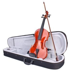 Färgrik violin 4/4 akustisk bleknar inte violin med fall och båge