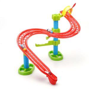 Hoppa Bönor S Form Järnväg DIY Byggstenar Pedagogiska Leksaker