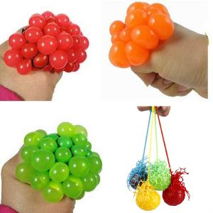 Squeeze Hand Handled Övning Stress Relief Toy Grape Shape