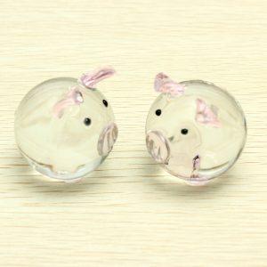 Crystal Glass Par Pig Cute Pig Prydnadslivare Tur Pig Gåvor