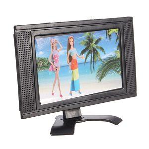 Plastleksaker Plattskärmsmöbel För Dollhouse Avtagbar LCD-TV Televi