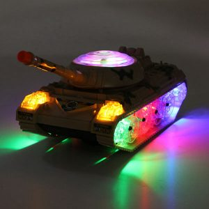 Army Tank Moving Sounding Blinkande Wheel LED-lampor Färgglada