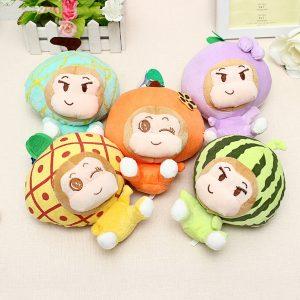 18CM Plush biltoon Frukt apa Toy fylld present
