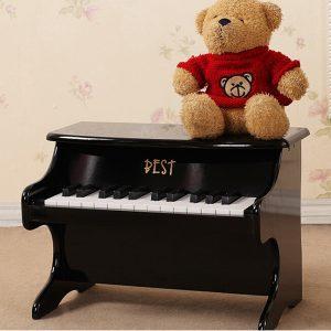 Bästa 25 Key Musical Instrument pedagogisk Leksaker Mini Piano Wooden
