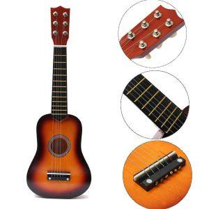 21 tums praktiska akustiska Ukulele 6-sträng mini gitarrleksaker för barn