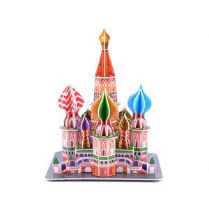 3D Block katedral Pussel Papper Leksaker