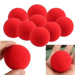 10st Close Up Magic Street Trick Mjuk Svamp Ball Props Clown Nose