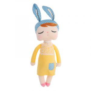 Metoo Angela 33CM biltoon Rabbit Fyllda Plush Dockas Leksaker till Födelsedagsjul