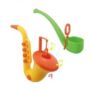 Ny saxofonbubbla maskin tvålbubbla vapensköld barnen blåser leksak väsentlig sommar utomhus leksaker