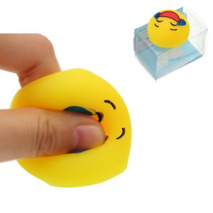 Mochi Squishy QQ Expression Squeeze Söt Healing Toy Kawaii Collection Stress Reliever Present Decor