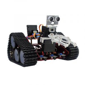 DIY Intelligent Transport Track Robot bil Med APP Control Hindring Undvik