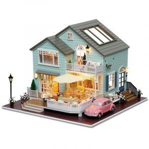 CuteRoom A-035-A Queens Town DIY Dockhus Miniatyrmodell med lättmusiksamling