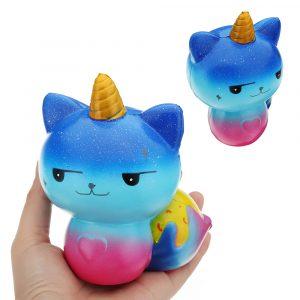 Galaxy Unicorn Cat Squishy 12 * 8,2 cm långsammare mjuk kollektion presentdos leksak