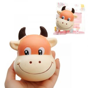 Bull Head Squishy 10 * 8cm långsammare med Packaging Collection Present Soft Toy