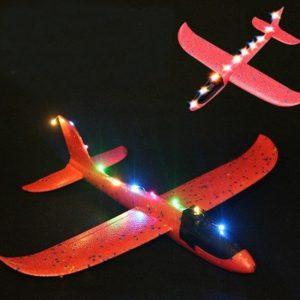 LED-lampa för Epp-handlansering Kasta Plane Leksaker DIY Modifierade Delar Slumpmässig Färg