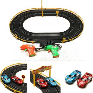 HZ Wire Control Elektrisk Magnetisk Roadster Spår Toy Dubbelt Konkurrent Leksaker