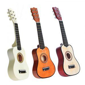 21 tums 6 strängar Basswood akustisk klassisk gitarr för barns barns gåva mini musikinstrument