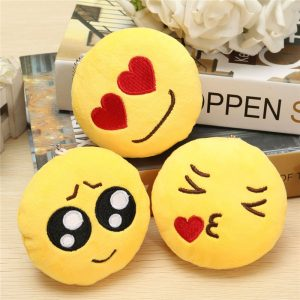 4inch 10cm Smiley Emoticon Round Emoji Prydnad Stuffad Plysch Soft Toy Hängsmycke