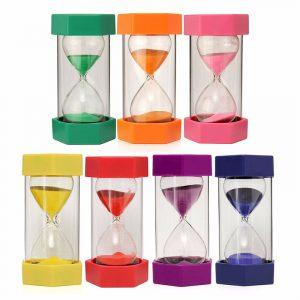Ny 15 minuter plastram Sandglas Sandglas Timglasur Timer Klocka Inredning