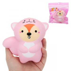 Tail Bear Squishy 10,5 * 11cm långsammare med Packaging Collection Present Soft Toy