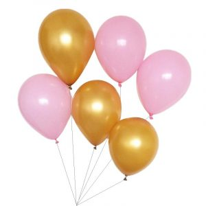 40st per set Rosa och Metallic Gold Balloons Helium Quality Party Decoration