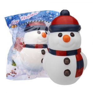 Cooland Christmas Snowman Squishy 14,4 × 9,2 × 8,1 cm Mjuk långsam stigning med Packaging Collection Present Toy