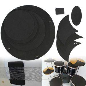 10 st bas snare trumma ljud av dämpa ljuddämpare trummor gummi praxis pad uppsättning