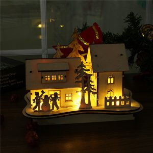 LED Ljus Trä  dockhus