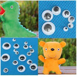 700st Mixed Wiggly Googly Eyes Självhäftande DIY Scrapbooking Docka Stuffed Toy Accessories