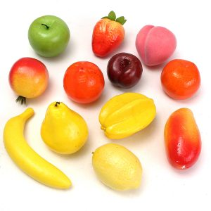 12st Lifelike Dekorativa Konstgjorda Fake Fruit Hem Craft Art Leksaker