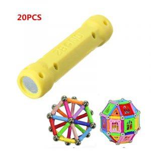 20st Straight Magnetic Rod Stick Modell Byggnad Utbildning Barn Vuxna Toy