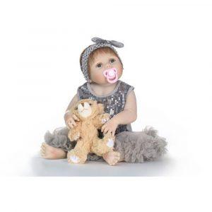NPK 23inch Reborn Baby Docka Verkligt liv som Reborn Docka Baby Girl Realistic Handmade Baby Docka Toy