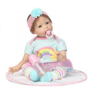 NPK 23 '' Reborn Babies Docka Soft Silicone Realistic Baby Dockas Fashion Babyleksaker