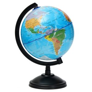 14cm World Globe Atlas Map Med Swivel Stand Geografi Pedagogiska Toy barns Present