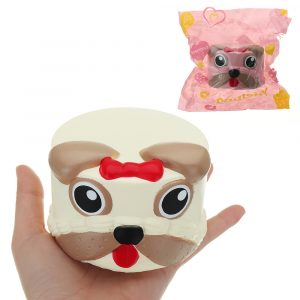Dog Head Squishy 9 * 6CM långsammare med Packaging Collection Present Soft Toy