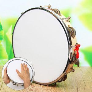 Brasil Samba Trumma Tamburin Musik Instrument-Gjord Av Trä & Polyester