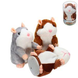 Mimicry Talking Hamster Pet 15cm julklapp plysch leksak gullig talar ljud rekord hamster fyllda djurleksaker