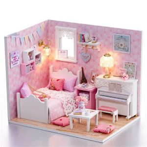 "DIY Hantverk Dockhus Miniatyrprojekt ""My Little Angels Piano Room"""