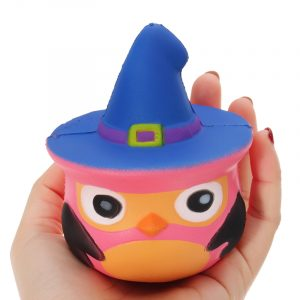 Squishy Pumpkin Bird Slow Rising Toy barns Fun Present Party Decor Telefon Hänge