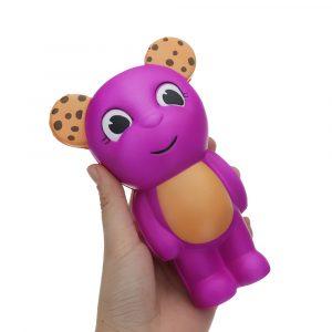 Bear Squishy 16,1 * 10,3 cm långsammare biltoon Present Collection Soft Toy