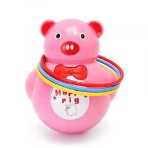 Musikljus DjurPig Tumbler Musical Toy för Baby barns Present Toy