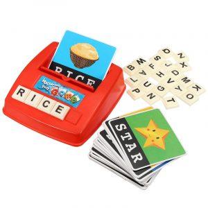 Barn English Spelling Alphabet Letter Game Tidigt lärande Utbildnings Leksaker Tool