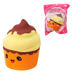 Squishy Puff Cake Ice Cream Toy 8cm långsammare med Packaging Phone Strap Pendant Collection Present