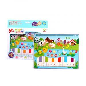 MoFun 2602B Dotläsning Lärande Maskin Pad Engelska Ljusmusik Tidig Utbildning Farm Tablet Toy