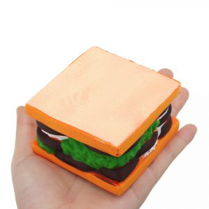 Sandwich Squishy 7,5 * 5cm långsamma biltoon Jelly Cake Present Collection Soft Toy