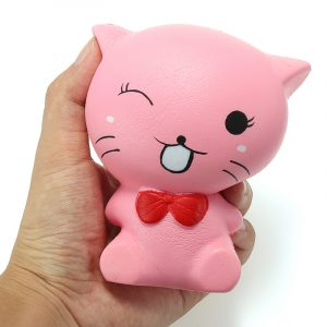 Squishy Cat Kitten 12cm Mjuka långsamma Djur biltoon Collection Present Decor Toy