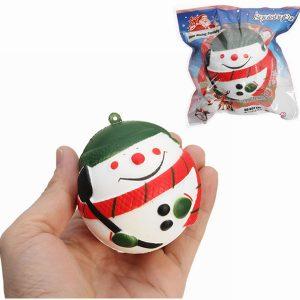 SquishyFun Squishy Snowman Christmas Santa Claus 7cm långsammare med Packaging Collection Present