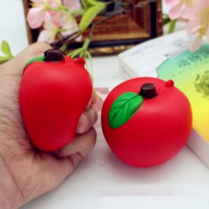 Squishy Red Apple 7cm Mjukt Långsam Rising Fruit Collection Decor Present Toy