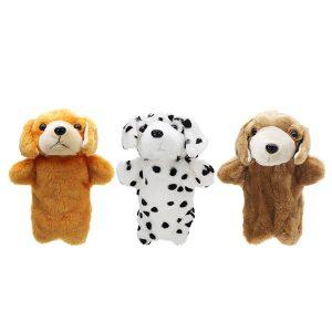 27cm fylld valp hund älv tal hand handduk klassiska barn figur leksaker plush djur