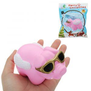 Glasögon Piggy Squishy 18cm långsammare med Packaging Collection Present Soft Toy